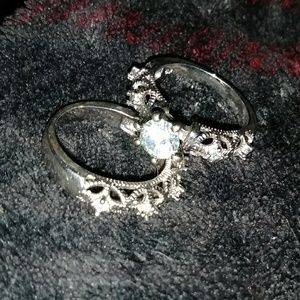 Jewelry - S925 Genuine Silver and White Sapphire Rings